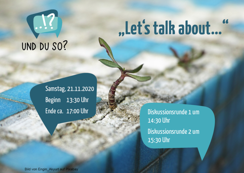 Let's talk about am 21.11. ab 13:30